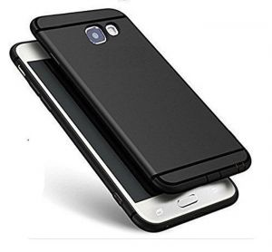 Snaptic Lava Z60 Anti Skid Soft Silicone Matte Black Back Cover