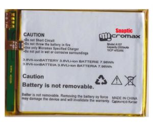 Micromax Canvas Fire 4 A107 Li Ion Polymer Replacement Battery By Snaptic