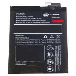 Micromax Canvas Selfie Lens Q345 Li Ion Polymer Replacement Battery By Snaptic