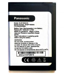 Panasonic,Motorola,Jvc,H & A,Snaptic,Apple,Concord Mobile Phones, Tablets - Panasonic T50 Li Ion Polymer Replacement Battery KLB160P349 by Snaptic