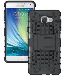 Productmine Defender Back Cover Case With Kickstand For Samsung Galaxy A9 Pro (black)