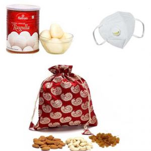 Haldiram Rasgulla With Dry Fruit And N95 Mask - ( Code - Gf05 )