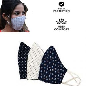 Antiloop Cotton Fabric Breathable Washable Reusable Protective Face Mask