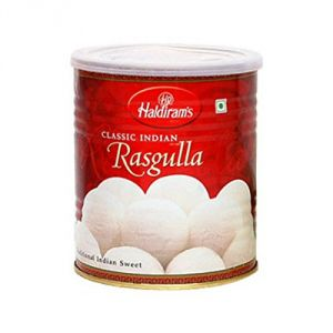 Indian Sweets - Haldiram 1kg Rasgulla Tin - ( Code - made03 )