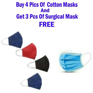 Colorful Anti-pollution Dust Cotton Mouth Nose Face Masks - ( Code - P4 )