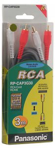 Panasonic Stereo Audio Cable Rca To Rca,3m