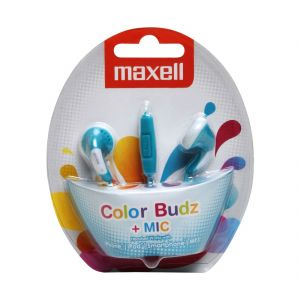 Maxell In Ear Color Budz Earphone With Mic For Iphone,ipod,smartphone,mp3