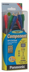 Panasonic Video Cable Component Rgb, 3m , Rp_cvcg30gk