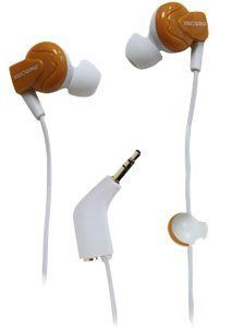 Memorex Ie350 In- Ear Earphones With Shirt Clip & Sharing Plug Orange