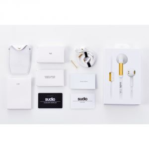 Sudio - Tva White In-ear Earphones W/ Button Mic & Remote For Smartphones