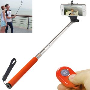 Extendable Self Portrait Mobile Selfie Stick Stand W Bluetooth Remote - 02
