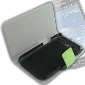 Carry cases and pouches for mobile - Leather Back Case Cover Flip Pouch For Samsung Galaxy S3 SIII I9300 - FS07
