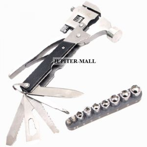 Hand Tools - Multi Pliers Army Swiss Knife Hammer Hand Camping Outdoor Tool SPANNERS -05