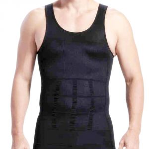 Mens Xl Weight Loss Slim & Lift Slimming Shirt Waist Belt Body Shape - 05