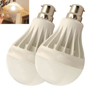 Set Of 2pcs 7w High Power LED Bulb For Pure, White, Cool, Safe Light - 06