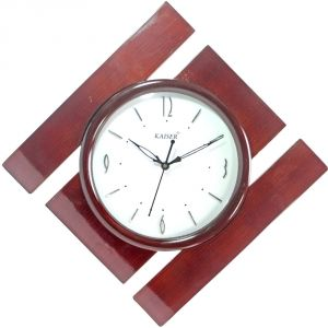 42cm Vintage Antique Look Wood Crafts Wooden Wall Clock Without Alarm - 109