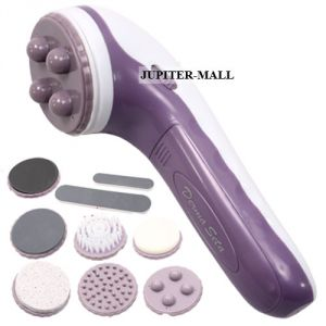 9in1 Rotation Therapy Full Body Face Neck Facial Beauty Massager Vibrator -