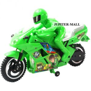 13 Inch Ben Ten 10 Bike Scooter Radio Remote Control Rc Racing Car Toys