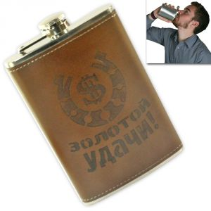 09 Oz Stainless Steel Drinks Hip Pocket Wine Flask Screw Cap - 14