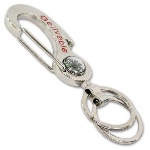 Stainless Steel Keyring Keychain With Compass - 146