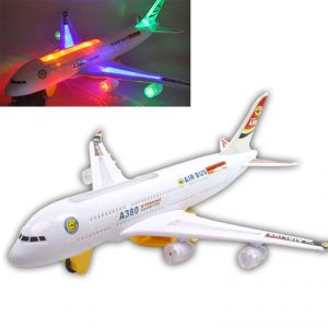 Airbus Plane Flashing Lights Music Gift Battery Operated Kids Toys -150