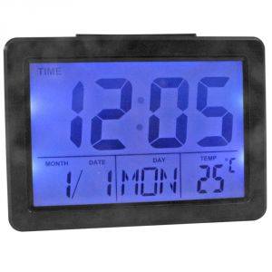 Voice Control Sound Sensor Calendar Alarm Table Clock Thermometer Timer-193