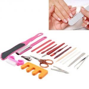 18-in-1 Stainless Steel Nail Clippers Manicure Set Kit - 02