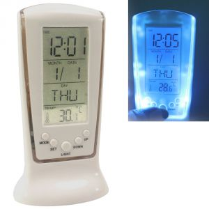 Digital LCD Alarm Table Desk Car Clock Timer Stopwatch - A21