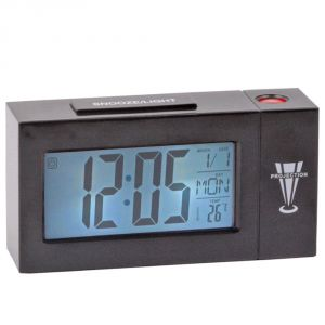 Voice Sound Control Projection Alarm Table Clock Calendar Thermometer Timer -306
