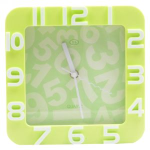 Buy 220 Ac Night Neon Lighted Square Standard Wall Table Diner Clock