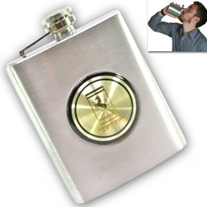 07 Oz Stainless Steel Drinks Hip Pocket Wine Flask Screw Cap 53