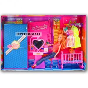 Barbie Doll Set With Beautiful Trendy Dresses Kids Toys Toy Baby Gift -74