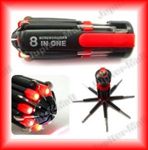 8 In 1 Multi-function LED Light Screwdriver Kit