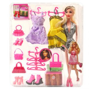 Barbie Doll Set With Beautiful Trendy Dresses Kids Toys Toy Baby Gift - 98