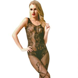 Black Lingerie Full Body Stockings Net Halter Fishnet Thigh-highs Socks Hose (code - Jm Bd St 06)