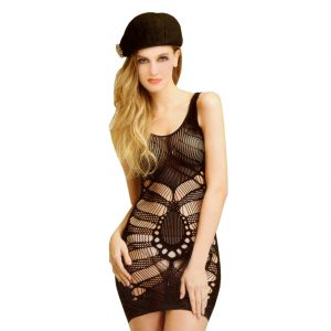 Black Lingerie Full Body Stockings Net Halter Fishnet Thigh-highs Socks Hose (code - Jm Bd St 20)