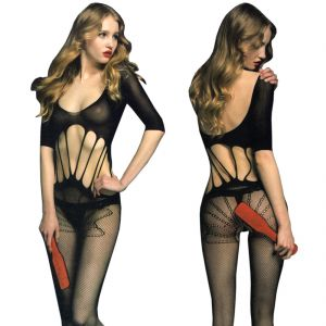 Black Lingerie Full Body Stockings Net Halter Fishnet Thigh-highs Socks Hose (code - Jm Bd St 21)