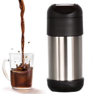 375 Ml Vacuum Thermos Flask Kettle Coffee Pot Steel Hot Cold Bottle (code - Jm Fl Sk 15)