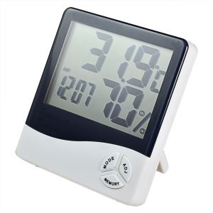 Digital Temperature Humidity Thermometer Alarm Table Desk Clock Calendar (code - Hg Mt 01 A)
