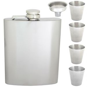 8oz 240ml Pocket Stainless Steel Hip Flask Bottle Liquor Drink Ware (code - HP Fl 82 A)