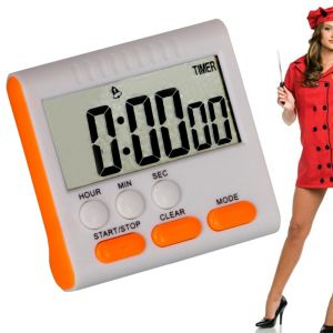 Kitchen Cooking Timer Large Digital LCD Display With Table Stand (code - Jm Kc Tm 02)