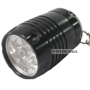 Mini 6 LED Aluminum Flashlight Flash Light Torch Keychain -01