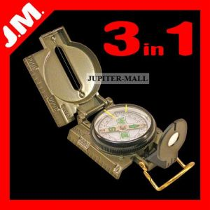 3in1 Military Hiking Camping Lens Lensatic Compass