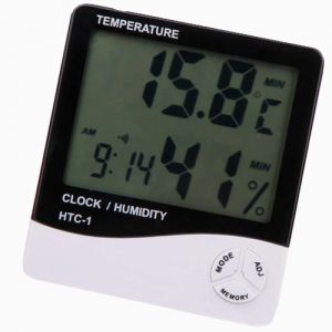 Digital Temperature Humidity Hygrometer Thermometer Alarm Table Desk Clock