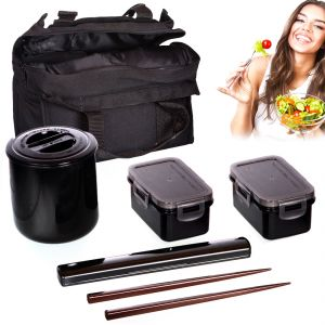 Tiger Japanese Lunch Box Set Insulated Hot Tiffin Thermos Dabba Home Picnic (code - Jm Ln Bx 02)