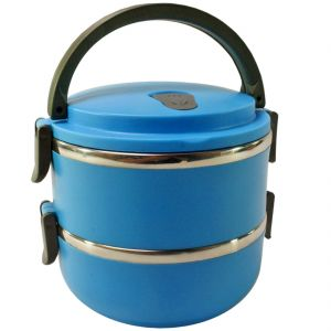 2 Container Insulated Hot Lunch Pack Tiffin Dabba Box Home Picnic (code - Jm Ln Bx 30)