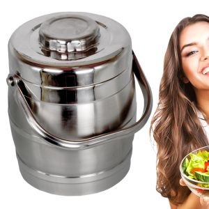 Stainless Steel Thermos Vacuum Insulated Hot 2 Container Lunch Tiffin Box (code - Jm Ln Bx 37)