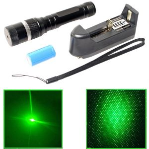 Rechargeable 100 MW Green Laser Pointer Pen Bright 5 Mile Battery Charger (code - Jm Ls Pn 21)