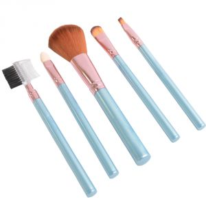 5 PCs Luxurious Functional Make Up Brush Cosmetic Set Kit Case (code - Mk Br 07 A)