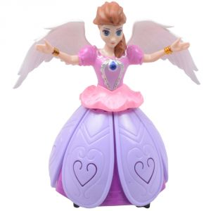 Princess Dancing Rotating Angel Doll Girl Flashing Lights Music Toy Kids - N67